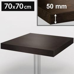 Bistro Tischplatte | 70x70cm | Wenge | Holz | Gastro Restaurant Holzplatte Tisch Gastronomie Stehtisch