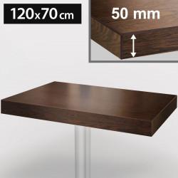 Bistro Tischplatte | 120x70cm | Walnuß | Holz  | Gastro Restaurant Holzplatte Tisch Gastronomie Stehtisch Möbel