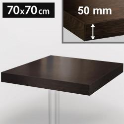 Bistro Tischplatte | 70x70cm | Wenge | Holz  | Gastro Restaurant Holzplatte Tisch Gastronomie Stehtisch Möbel
