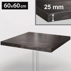 ITALIA Bistro Tischplatte | 60x60cm | Grau Wenge | Holz | Gastro Restaurant Holztischplatte Tisch Gastronomie Stehtisch Möbel