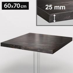 ITALIA Bistro Tischplatte | 60x70cm | Grau Wenge | Holz | Gastro Restaurant Holztischplatte Tisch Gastronomie Stehtisch Möbel