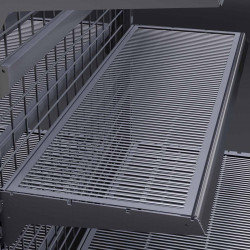 BROOKLYN | DRAHT | Gitter Boden | 37x100cm | Tego Fach Gondel Metall Mittel Raum Laden Verkaufs Markt Supermarkt Kiosk Waren Lebensmittel Drogerie