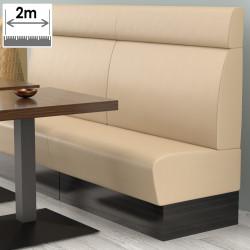 (NEW) Denver Gastro Bank | B200xH128cm | Creme | Glatt  | Bistro Sitzbank Lounge Polster Restaurant
