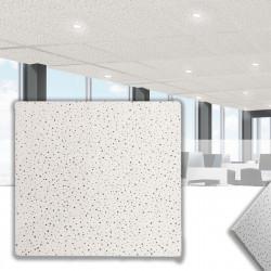 CALGARY Mineralfaserplatte 60x60cm   Weiß   Rasterdeckenplatten   Mineral Faser Akustik Decken Raster Platten