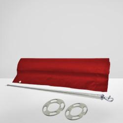 ROYAL Cafe Tuch Barrier | 150x70 | Rot | Absperrung  | Gastro Sichtschutz Abgrenzungsständer Absperrständer Kordelständer Abgrenzungspfosten Kordelpfosten