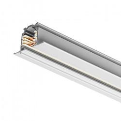Einbau - Stromschiene 1000mm | 110V - 415V | Weiß | 3 Phasen | Hochvolt  | Schienensystem Schiene Flügel Strahler Stromschienenstrahler Spot Lampe Leuchte