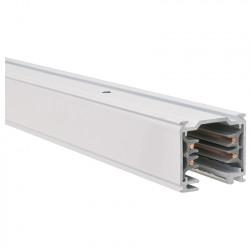 Aufbau - Stromschiene 1000mm | 110V - 415V | Weiß | 3 Phasen | Hochvolt  | Schienensystem Schiene Strahler Stromschienenstrahler Spot Lampe Leuchte