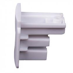 Endkappe | Weiß | 3 Phasen | Hochvolt  | Universal für Aufbau & Einbau | Aufbauschiene . Aufbaustromschiene . Aufbau Stromschiene . Einbauschiene . Einbaustromschiene . Einbau Stromschiene . 3 Phasen Schiene . 3 Phasen Stromschiene . Hochvoltschiene . Hoc