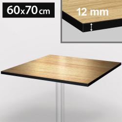 Bistro Terrassen Tischplatte | 60x70cm | Light Wenge | 100% HPL | Compact Werzalit Gastro Restaurant Garten Outdoor Aussen Wetterfest Tisch Gastronomie Stehtisch Möbel