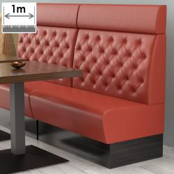 (NEW) Denver Gastro Bank   B100xH128cm   Rot   Chesterfield    Bistro Sitzbank Lounge Polster Restaurant