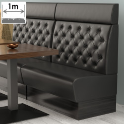 (NEW) Denver Gastro Bank | B100xH128cm | Schwarz | Chesterfield  | Bistro Sitzbank Lounge Polster Restaurant