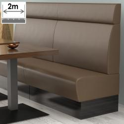 (NEW) Denver Gastro Bank | B200xH128cm | Braun | Glatt  | Bistro Sitzbank Lounge Polster Restaurant