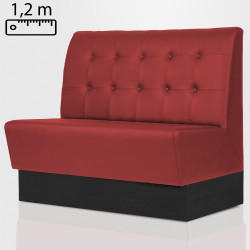 DENVER Gastro Sitzbank B120xH120cm | Rot | Chesterfield Button  | Bistro Bank Hoch Lounge Polster Restaurant Diner Möbel Bar Sitzmöbel