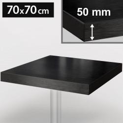 Bistro Tischplatte | 70x70cm | Schwarz | Holz  | Gastro Restaurant Holzplatte Tisch Gastronomie Stehtisch Möbel