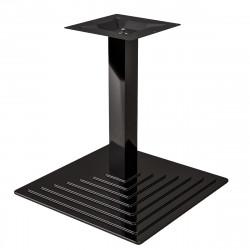 PYRAMIDE | Bistro Lounge Tisch Gestell | 41x41cm | 8x50cm | Schwarz  | Fuß Bein Säule Quadratisch