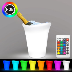 TROPIC Sektkühler | 3x0,75l | LED RGB | Akku | Eiskübel Eiseimer Flaschenkühler Eiswürfelbehälter Eisbehälter Weinkühler Champagnerkühler Eisbox Champagnerschale