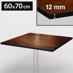 Bistro Terrassen Tischplatte | 60x70cm | Nußbaum | 100% HPL | Compact Werzalit Gastro Restaurant Garten Outdoor Aussen Wetterfest Tisch Gastronomie Stehtisch Möbel