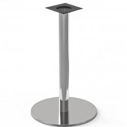 NIZZA | Bistro Steh Tisch Gestell | Ø50cm | 7,6x105cm | Edelstahl  | Bar Fuß Bein Säule Rund