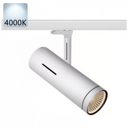 SYDNEY Stromschiene Strahler LED | 30W | 4000K | Weiß | 3 Phasen - Schienensystem | Hochvolt  | Spot Stromschienen Schienen Lampe Leuchte Lichtschiene Schaufensterbeleuchtung Laden Shop Beleuchtung