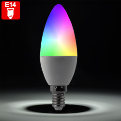PIA RGB LED | Leuchtmittel | Glühbirne Kerze | E14 | Farbwechsel | Fernbedienung | Kerzenlampe Birne Kerzenbirne Lampe