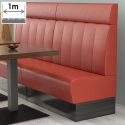 (NEW) Denver Gastro Bank | B100xH128cm | Rot | Gestreift  | Bistro Sitzbank Lounge Polster Restaurant
