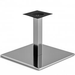 MADRID | Bistro Lounge Tisch Gestell | 50x50cm | 6x36cm | Edelstahl  | Fuß Bein Säule Quadratisch