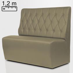 (Ausverkauf) TEXAS Gastro Sitzbank B120xH120cm   Taupe   Chesterfield Raute    Bistro Hoch Bank Lounge Polster Restaurant Diner Möbel Bar Sitzmöbel