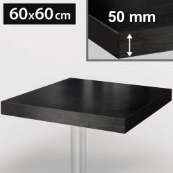 Bistro Tischplatte | 60x60cm | Schwarz | Holz  | Gastro Restaurant Holzplatte Tisch Gastronomie Stehtisch Möbel