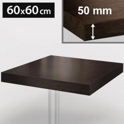 Bistro Tischplatte | 60x60cm | Wenge | Holz  | Gastro Restaurant Holzplatte Tisch Gastronomie Stehtisch Möbel