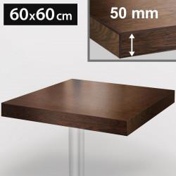 Bistro Tischplatte | 60x60cm | Walnuß | Holz  | Gastro Restaurant Holzplatte Tisch Gastronomie Stehtisch Möbel