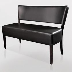 LUCA Bistro Sitzbank 1,2m | Leder | Schwarz  | Gastro Bank Lounge Stuhl Polster