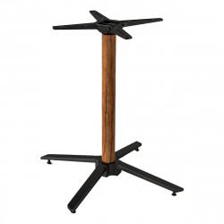 ADORA Bistro Terrassen Tischgestell | 8x72cm | Holz Optik | 4 Fuß | Outdoor  | Gestell Tischfuß Tischbein Untergestell Tischsäule