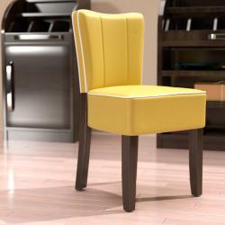 AMERICAN Bistro Stuhl | Leder | Gelb  | Diner Gastro Restaurant Kneipen Hotel Kaffee Cafe Gaststätten Brasserie Eiscafe
