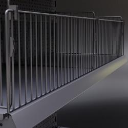 BROOKLYN | Front Gitter | H17xL100cm | Tego Einsteck Trenn Fach Gitter Boden Abteil Teiler Gondel Metall Mittel Raum Laden Verkaufs Markt Supermarkt Kiosk Waren Lebensmittel Drogerie