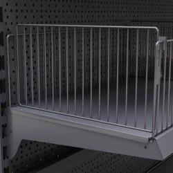 BROOKLYN | Trenn Gitter | H17xL47cm | Tego Einsteck Trenn Fach Gitter Boden Abteil Teiler Gondel Metall Mittel Raum Laden Verkaufs Markt Supermarkt Kiosk Waren Lebensmittel Drogerie