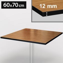 Bistro Terrassen Tischplatte | 60x70cm | Eiche | 100% HPL | Compact Werzalit Gastro Restaurant Garten Outdoor Aussen Wetterfest Tisch Gastronomie Stehtisch Möbel