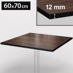 Bistro Terrassen Tischplatte | 60x70cm | Walnuß | 100% HPL | Compact Werzalit Gastro Restaurant Garten Outdoor Aussen Wetterfest Tisch Gastronomie Stehtisch Möbel