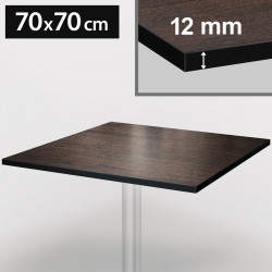 Bistrobordplade   70x70cm   Wengé & Hvid   Kompakt   Compact Træplade Gastronomi Restaurant Bord Ståbord Møbler