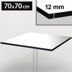 Bistro Terrassen Tischplatte   70x70cm   Wenge   100% HPL   Compact Werzalit Garten Outdoor Aussen Gastro Restaurant Wetterfest Tisch Gastronomie Stehtisch Möbel