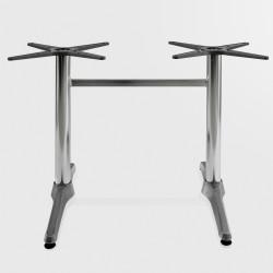 Bistro Terrassen Doppeltischgestell   8x72cm   Aluminium   2 Fuß   Outdoor    Doppel Tisch Gestell Tischgestell Tischfuß Tischbein Untergestell Tischsäule