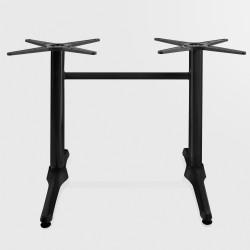 Bistro Terrassen Doppeltischgestell   8x72cm   Schwarz   2 Fuß   Outdoor    Doppel Tisch Gestell Tischgestell Tischfuß Tischbein Untergestell Tischsäule