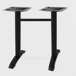 Bistro Terrassen Doppeltischgestell   8x72cm   Schwarz   Outdoor    Doppel Tisch Gestell Tischgestell Tischfuß Tischbein Untergestell Tischsäule