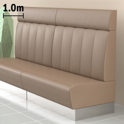 (NEW) Dallas Gastro Bank | B100xH128cm | Taupe | Gestreift  | Bistro Sitzbank Lounge Polster Restaurant