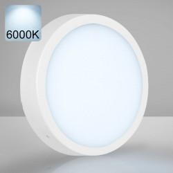 EMPIRE   Aufbau LED Panel   Ø300mm   24W   6000K   Kalt Weiß   Rund Aufputz Leuchte Lampe