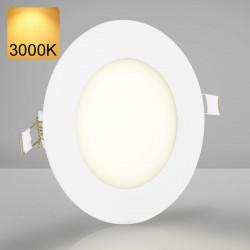 EMPIRE Einbau LED Panel Ø120mm | A++ | 6W | 3000K | Warmweiß | Rund Spot Strahler Einbauspot Einbaustrahler Einbaupanel Spotpanel Strahlerpanel