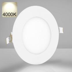 EMPIRE | LED Panel | Einbau | Ø120mm | 6W | 4000K | Neutral Weiß | Rund Spot Strahler Leuchte Lampe