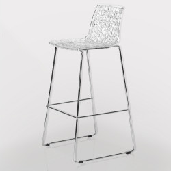 Bar stool - transparent - seat height: 73,5 cm
