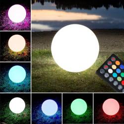(Caribbean) Lounge Lyskugle Ø30cm   LED RGB   Batteri   Udendørs Kuglelampe Kuglelys Lysmøbler Lyskugle Havekugle Kugle Have Lys Lampe Lampeobjekt Lysobjekt