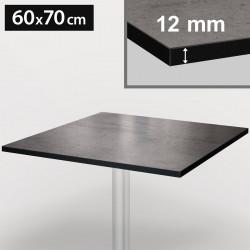 Bistro Terrassen Tischplatte | 60x70cm | Beton | 100% HPL | Compact Werzalit Gastro Restaurant Garten Outdoor Aussen Wetterfest Tisch Gastronomie Stehtisch Möbel