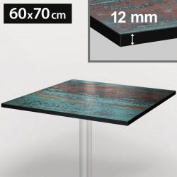 Bistro Terrassen Tischplatte | 60x70cm | Rost | 100% HPL | Compact Werzalit Gastro Restaurant Garten Outdoor Aussen Wetterfest Tisch Gastronomie Stehtisch Möbel